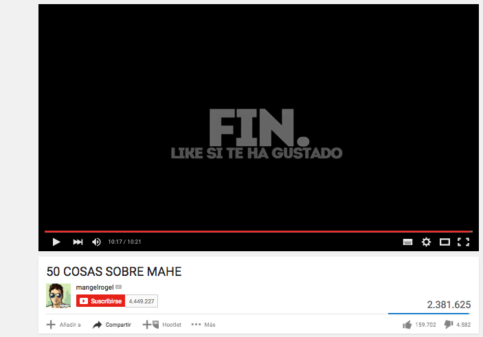 Fuente: Canal Youtube Mangel