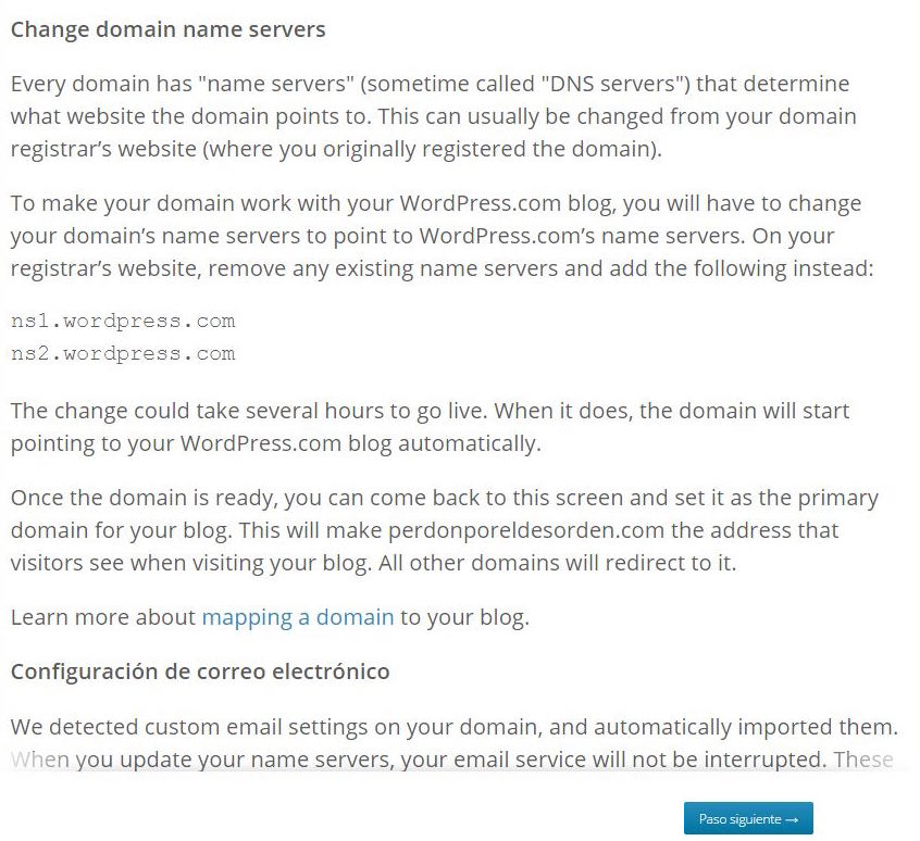 DNS Domain Mapping WordPress