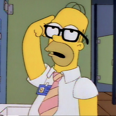 Homer Simpson llevando gafas